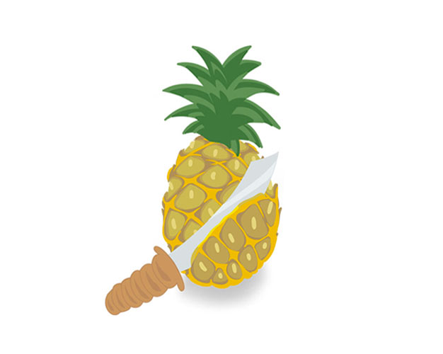 Illustratie ananas-machete | Pineapple Marketing