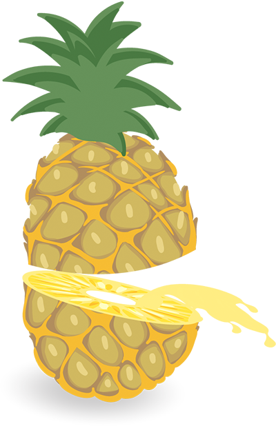 Illustratie ananas splash | Pineapple Marketing